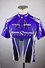 Bio Racer Radtrikot cycling jersey Trikot Bike Gr. XL 54cm Hendrikx nl blau