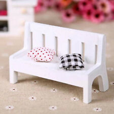1:12 Scale Wooden Bench Dolls House Miniature Garden Furniture Accessory 1pc