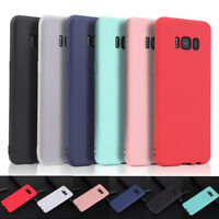 For Samsung Galaxy S10 S9 S8 TPU Silicone Ultra Thin Frosted Back Cover Case
