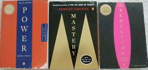 ROBERT GREENE BOX LOT: THE 48 LAWS OF POWER THE ART OF SEDUCTION, MASTERY; 3 PBS