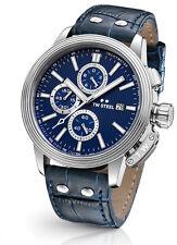 TW Steel CEO adesso ce7007 Orologio Uomo Cronografo Chrono Pelle Blu Scuro Nuovo