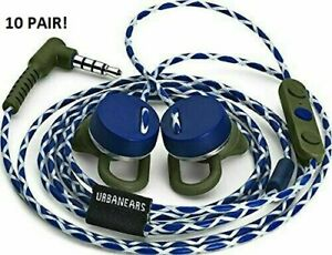10 TEN! New UrbanEars Reimers Trail Apple iPhone Blue White earbuds 10 Wholesale