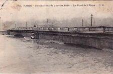PARIS inondations de janvier 1910 65 le pont de l'alma