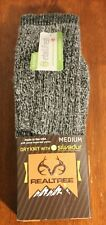 New 2 pairs Real Tree Men's socks Wool Blend Gray Size Medium hiking outdoor