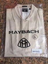 Men Golf Polo Tan Short Sleeve  Shirt Large Mercedes Maybach