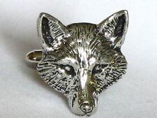 Fox head grande chasse Vixen Fine étain boutons de Manchette Cadeau Homme Bijoux Boxed
