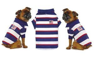 Patriotic Pooch SPF40 Polo Dog Shirt - Red White & Blue Stars & Stripes Shirts