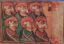 Irish Postcard Portrait Faces BOOK OF KELLS Trinity Dublin Art Ireland Folio 7v