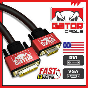 DVI-I 24+5 Dual Link Male to VGA Cable Cord Male Video Monitor Adapter PC 6FT