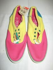 Vintage Ivy Club Classics vas tennis shoes 7.5 new with tags pink yellow green