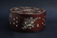 Boite Vietnam marqueterie nacre XIX Antique Vietnamese mother of pearl wood box