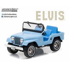 1/43 Greenlight Elvis Presley 1963 Jeep CJ5 Diecast Model Car 86310 Blue