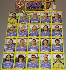 FIGURINE CALCIATORI PANINI 2009-10 SQUADRA FIORENTINA CALCIO FOOTBALL ALBUM