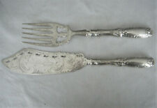 "James Vancourt, Ny, ""Jenny Lind"" Coin Silver Fish Serving Slice & Fork"
