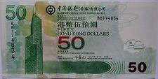 "BILLETE ""    HONG KONG   ""  50  DOLARES   AÑO  2006  SERIE BB  UNC   PLANCHA"