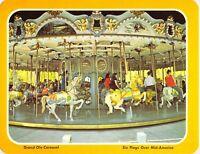 MO SIX FLAGS OVER MID-AMERICA Carousel 5.25x6.75 Amusement Park postcard