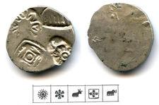 Early silver drachm, Annuruddha-Nagadasaka period (445-413 BCE), Magadha, India