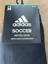Adidas Metro Black/White IV Soccer Socks Size M