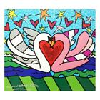 """Britto """"Soulmate"""" Hand Signed Limited Edition Giclee Canvas Authenticated"""