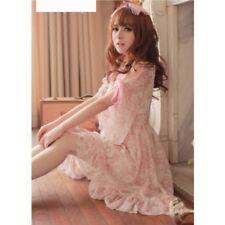 Kawaii Cute Sweet Dolly Gothic Lolita Princess 3/4 Sleeve Chiffon Dress onepiece