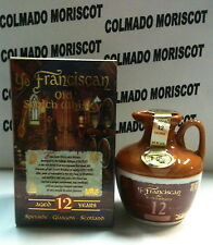 YE FRANCISCAN 12yo SCOTCH WHISKY 5cl40% CANECO CERAMIC mignonette mini bottleJUG