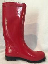 Cougar Cutiepie Knee High Red Rain Boots Womens 10 M Pull On Casual Lug Sole