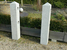 Natursteinsäulen aus grauem Granit, Pfosten aus Naturstein, Zaunpfosten, Unikat