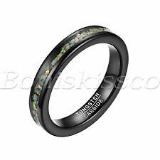 Women's Opal Wedding Band Tungsten Ring Engagement Anniversary Valentines Gift