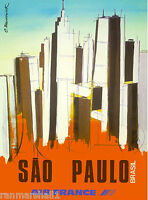 Sao Paulo Brazil South America American Vintage Travel Advertisement Poster 2