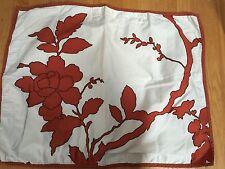 Dwell Studio for Target Pillow Sham Cover Tree Branch Blossom Rust Terra-Cotta