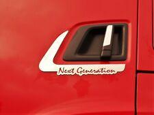 P et s?rie G 2004?2009?ans en acier inoxydable poli Camion Trucker D?coration avant Accessoires Miroir Sign Coque pour Scania R