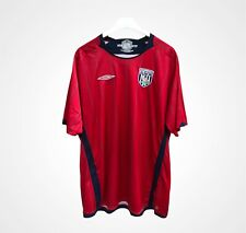 West Bromwich Albion Away Football Shirt 2009 - 2010 Umbro Red Adults XXL