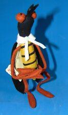 "Adorable Rare vintage Lars/Lenci Italy Wasp felt doll w. label 8 1/2 """