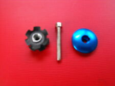 "New  3 pcs 11/8"" HEADSET - BLUE TOP-CAP/HAT + Fork Steerer STAR EXPANDER + BOLT"
