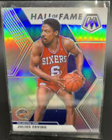 2019-20 Panini Mosaic Silver Holo Julius Erving Hall of Fame SP #288