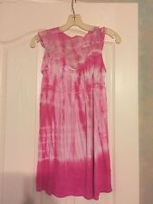 FOREVER 21 SIZE Small Pink Tie Dye Sundress with Lace