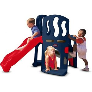 Little Tikes Hide & Slide Climber, Blue & Red - Climbing Toy and Slide for Kids