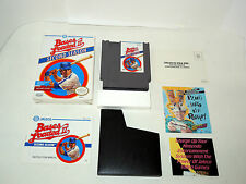 BASES LOADED II complete in box with manual sleeve NES NTSC videogame like new