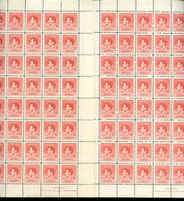 PAPUA 1937 KG6 CORONATION 2d SHEETS JOHN NASH IMPRINT...80 stamps