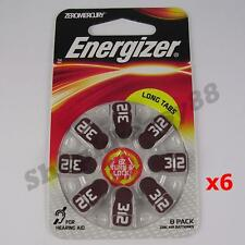 48 Pieces of Energizer AZ312 Hearing Aid Zinc Air Coin Button Battery FREE S&H