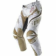 ONEAL Hardwear adult  NEW Vented motocross pants wht/gold sz 28   0143-628
