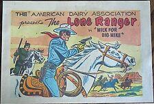 LONE RANGER 0 DAIRY MINI COMIC GIVEAWAY PROMO MILK FOR BIG MIKE 1955 RARE VFNM