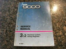 1986- SAAB 9000 Electrical System, Wiring Diagrams Manual