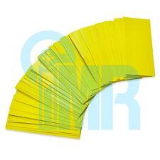 1000pcs 18650 PVC Heat Shrink Wraps (Pre-cut) - Yellow