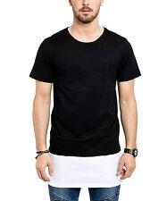 Phoenix Oversize Layered Side Zip T-Shirt II LongTee Longshirt Black Men's