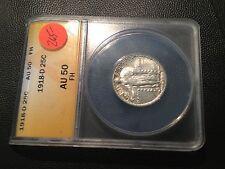 1918-D  ANACS AU-50 FH  Standing Liberty Quarter  Nice Full Head Coin