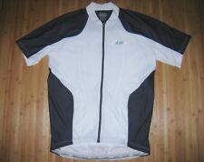 Garneau Cycle Bike Jersey Bicycle Shirt Size Large Polyester Sideburn Gray New
