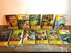 Bob Morane, lot 11 romans,  Henri Vernes - junior marabout