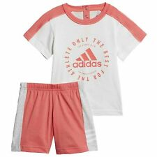 Adidas Baby Summer T-Shirt Shorts Set Infant Toddlers Outfit DV1261