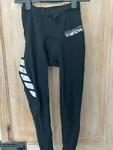 Ladies ALTURA cycling winter thermal pants size 14. black with reflective design